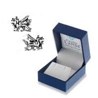Welsh Dragon Silver Stud Earrings